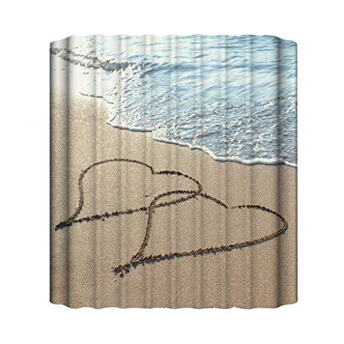 Xmiral Duschvorhänge Wasserdicht Duschvorhang Polyester Badezimmer Gardinemit 12 Haken 180x180cm(C)
