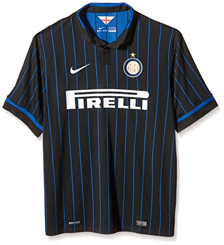 NIKE Inter Home Stadium - Camiseta/Camisa Deportiva para Hombre, Color Negro, Talla...