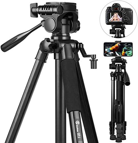 58 inch Camera Tripod GooFoto 6 6lb 3KG Load Portable Lightweight Aluminum Travel Tripod for product image