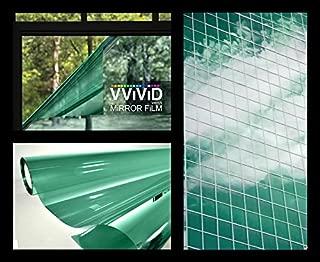 VViViD One-Way Green Mirror Finish Vinyl Window Wrap Film Self-Adhesive DIY Small Roll (2.5ft x 5ft)
