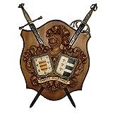Talla 2 Apellidos con espadas cruzadas