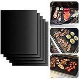 YIHGJJYP 5pcs BBQ Grill Mat Barbecue im Freien Backen Antihaft-Pad Wiederverwendbare Teflon Kochplatte 40x60cm für Partei PTFE Grill Mat Werkzeuge