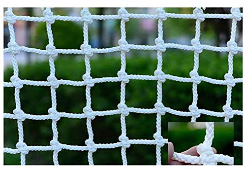 ANQI Red de protección duradera para gatos, balcón, malla de seguridad anticaídas, red de seguridad para niños, escaleras o patio, incluye cuerda de fijación y ataduras de cables, 1,2 x 10 m