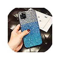 for Apple for iPhone 11ケース用高級フルダイヤモンドグリッターグラデーション保護バックカバーケースfor iPhone 11 Pro Max for iPhone11 11Pro,for iPhone 11 Pro,blue