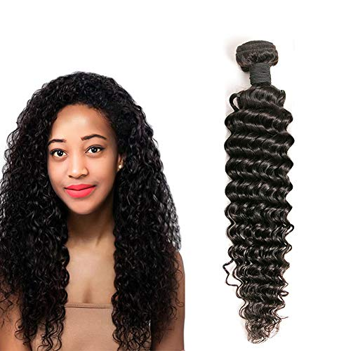 Brazilian Deep Curly Weave 1 Bundles Unprocessed Vrigin Human Hair Extension Can Be Dye Total 100g Natural Color 14 Inch