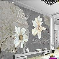 Bosakp 写真の壁紙カスタム壁画の壁紙アート標本花リビングルーム写真装飾背景 360X250Cm