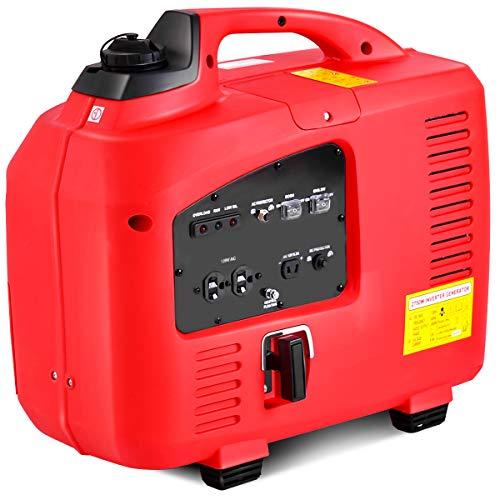 Goplus Gas-Powered Inverter Generator Portable Digital 4 Stroke 53cc Single Cylinder CE, GS, CARB & EPA Compliant (1250W)