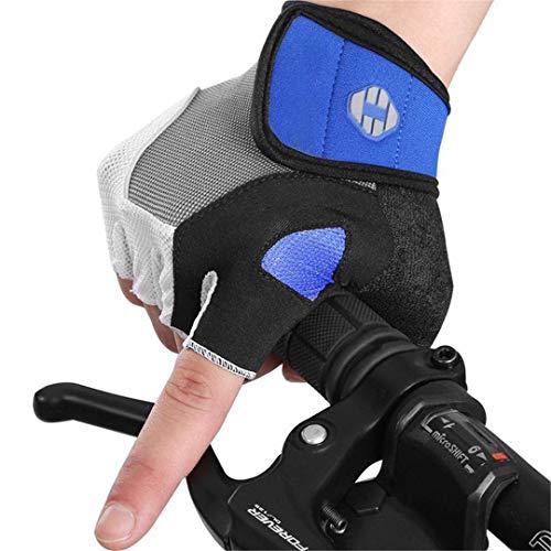 Guantes de ciclismo para hombre de 5 mm, almohadilla de gel antideslizante...