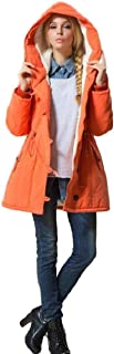 Glasshe Womens Casual Hooded Warm Jackets Coats Parkas