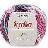 Lanas Katia Baby Jacquard Ovillo de Color Malva Cod. 87