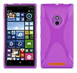Cadorabo Hülle für Nokia Lumia 830 - Hülle in Flieder VIOLETT – Handyhülle aus flexiblem TPU Silikon im X-Line Design - Silikonhülle Schutzhülle Soft Back Cover Hülle Bumper