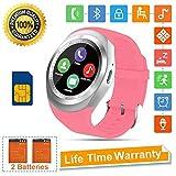 Smartwatch SN05 Fitness Armband Fitness Uhr mit Touchscreen SIM Karte Slot Schrittzähler Schlaftracker Fitness Tracker Smart Watch für Samsung Huawei Xiaomi Android ios Damen Herren Kinder (Rosa)