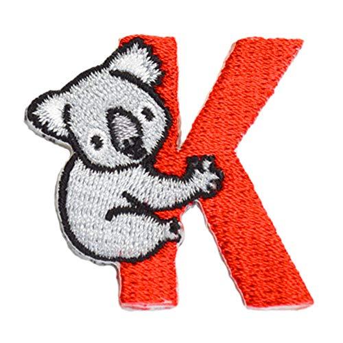 アルファベット アニマル ワッペン おなまえ アップリケ 動物 うさぎ ねこ いぬ くらげ おけいこ イニシャル A B C D E F G H I J K L M N O P Q R S T U V W X Y Z 入園準備 保育園 幼稚園 刺繍 (K)