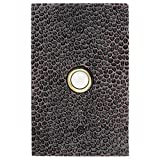 Waterwood Solid Brass Large Hammered Plate Doorbell in Oil Rubbed Bronze - Wired Illuminated Push Button - Environmentally Friendly Recycled Material