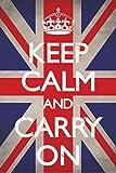 1art1 48799 Motivation - Keep Calm And Carry On, Union Jack
