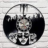 LTOOD Disco de Vinilo Reloj de Pared diseño Moderno música Banda de Rock Retro CD Reloj...