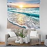 Arazzo da Parete Grande paesaggi da Spiaggia, Morbuy Hippie Poliestere Stampa Home Decor tappeti da Parete Casual Picnic Telo Mare (Grande (150 x 200 cm),Tramonto)