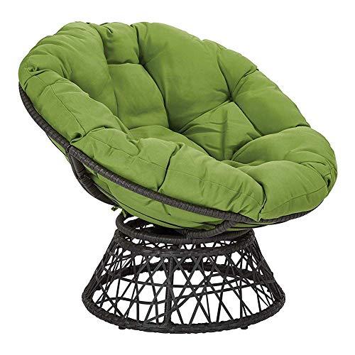 LYHY Nest Hängesessel Sitzkissen, Indoor Outdoor Stuhlkissen Verdicken Runder Teppich Stuhl Schaukelkissen Für Schaukelstuhl Pad-100x100x6cm Grün