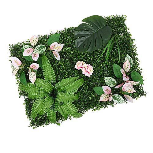 secruk Cerca de Privacidad Artificial Plantas Artificiales Plantas Plantas Privacidad Copia Decoración de Jardín para Patio Baldo Decoración Inicio Paredes Verdes 40x60cm Charming