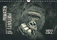 PRIMATEN PORTRAITS - monochrom (Wandkalender 2022 DIN A4 quer): Beruehrende Augen-Blicke mit unseren naechsten tierischen Verwandten (Monatskalender, 14 Seiten )