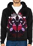Godetss Men's Jacket Sweatshirt Baby-Metal Hoodies Men Lightweight Sports Full Zip Hoodie Hooded,Black,X-Large Black