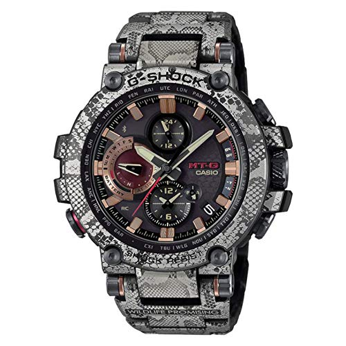 G-Shock by Casio Men's MTGB1000WLP1 Analog Watch Gray Rock Python