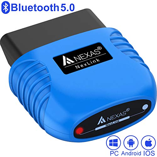 NEXAS NexLink Bluetooth 5.0 Diagnostic Scanner for iPhone & Android & Windows OBD2/EOBD Fault Code Reader Enhanced Diagnostic Scan Tool Torque, DashCommand, OBDFUSION