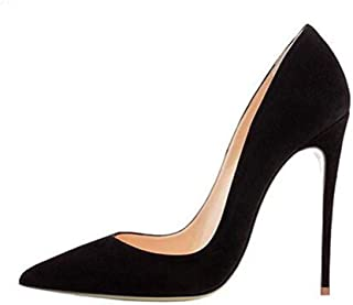 Elisabet Tang High Heels, Women Pumps Pointed Toe Stilettos 4.7 inch/12cm Sexy Heels Party Shoes Black Size: 10