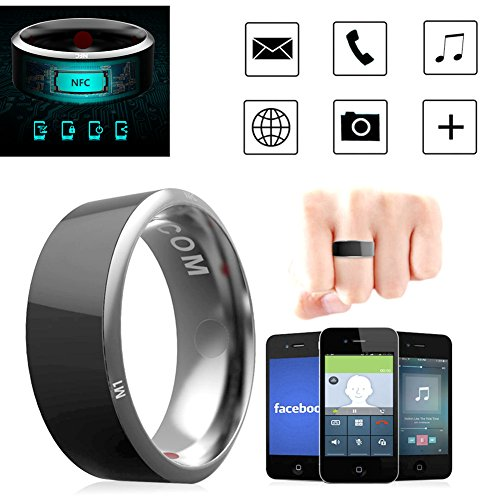 Leagway R3 Smart Ring, Waterproof Dust-Proof Fall-Proof Smart Ring for Android Windows NFC Mobile Phone, Multifunction Magic Finger Ring for Samsung Xiaomi HTC LG Sony Motorola Nokia (#8)