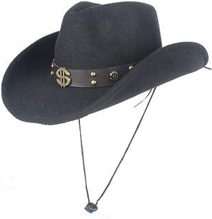 LULIJP メンズ テンガロンハット 西部 ウエスタン 旅行 帽子 演劇 おしゃれ 日よけ つば広