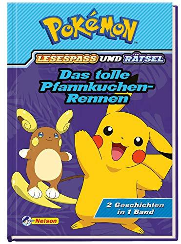 Pokémon: Das tolle Pfannkuchen-Rennen - 2 Geschichten in 1 Buch: Lesespaß und Rätsel
