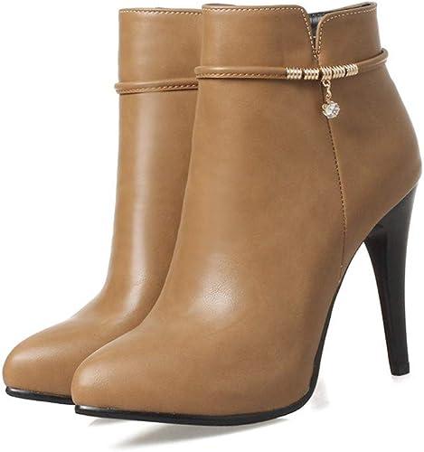 Shirloy botas mujer Tacones tacón Alto botas Puntiagudas botas Cortas zapatos mujer Salvaje Temperamento Encanto zapatos mujer Elegante