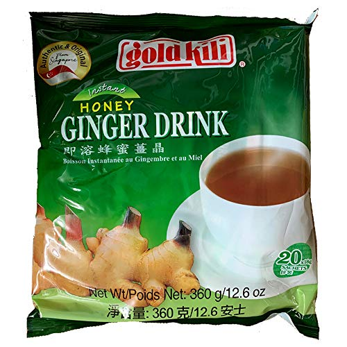 GOLD KILI Instant Honey Ginger Tea Drink - 18g x 20 SACHETS - 360g Original