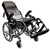 Karman VIP-515-18 Foldable Tilt in Space, Diamond Black, 20' Rear Wheels and 18' Seat Width