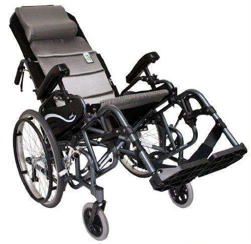 "Karman Healthcare VIP515-16-E Foldable Tilt in Space, Diamond Black, 20"" Rear Wheels and 16 "" Seat Width"