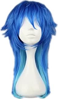 COSPLAZA Cosplay Wigs Short Party Hair Mixed Blue Fashion Boy Synthetic Wig