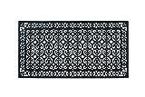 A1HC 100% Rubber Paisley, Heavy Duty Hand Finished, Double Door Doormat, 30'X60', Black