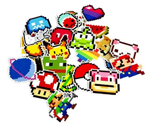 EC Trading Mario & Characters Pixel Stickers Assorted Lot of 25 Pieces