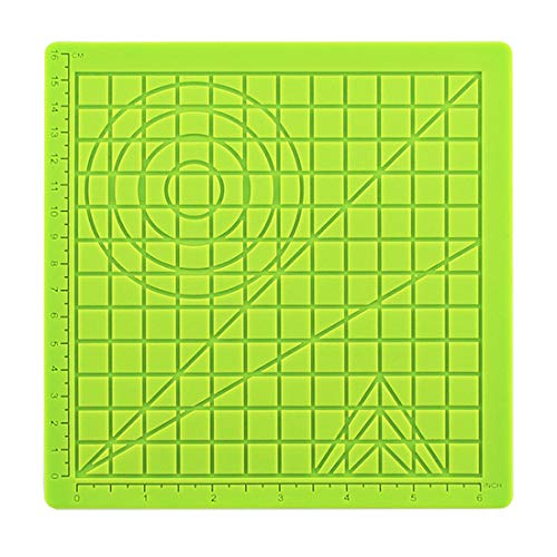 Miaoo 3D Printing Pen Silicone Mat for 3D Printing Drawing Printer Pen, Drawing Template with Basic Multi-Shaped Art Craft Drawing Tools, for Kids Adults 3D Pen Drawing Stencils (Green)