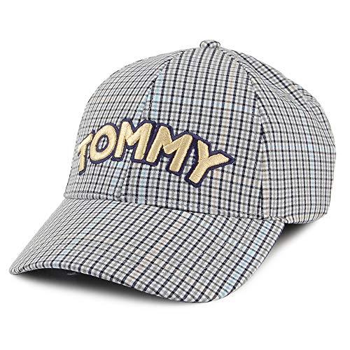 Tommy Hilfiger Tommy Patch Karierte Baseball Cap - Weiß-Schwarz - Einstellbar