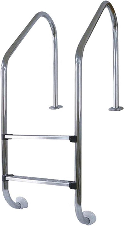 HHXD Escalera para Piscina Acero Inoxidable Antióxido Pool Escalera de Seguridad Con Peldaños Antideslizantes/Thickness 0.1cm / W50cm*H130cm