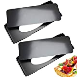 FANDE Quiche Tart Pan Antiadherentes, Extraíble Loose Bottom Tart Pie, Rectángulo Tart Quiche Pan con Base Desmontable, para pasteles y quiches (36,5 x 15 cm)