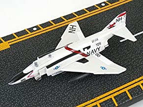 Hot Wings F-4 Phantom with Connectible Runway Die Cast Plane, White