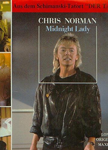 """NORMANN, CHRIS / Midnight Lady / Woman / 1986 / Bildhülle / HANSA # 107 961 / 107961 / Deutsche Pressung / 7"""" Vinyl Single-Schallplatte / FILMMUSIK / OST / ORIGINAL SOUND TRACK / Aus dem Schimanski-Tatort """"DER TAUSCH"""" /"""