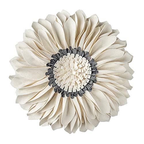 JWH 3D Flower Throw Pillow Cover