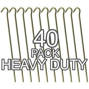 (20 Pack Tent Pegs) - Galvanised Steel Heavy Duty Tent Pegs - 9