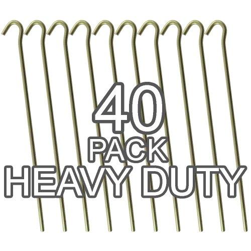 """(50 Pack Tent Pegs) - Galvanised Steel Heavy Duty Tent Pegs - 9\"""" / 23cm Long - 4.5mm Wide"""