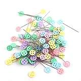 Yihaifu 100Pcs Plastic Flat Head Pins Multicolor Stecknadel Flache gerade Quilting Pins Mischfarbe...