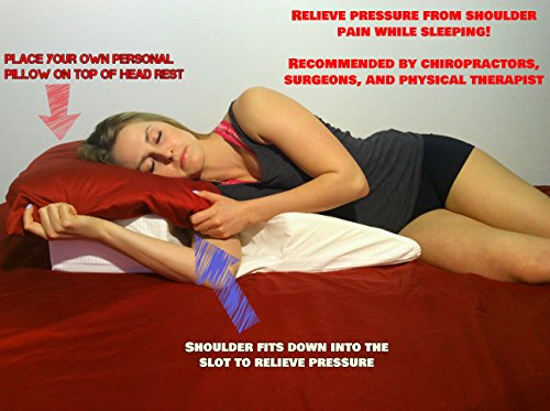 Shoulder Pillow - Relieves Shoulder Pain Due to surgeries, Arthritis, tendonitis, etc. - for Side Sleepers