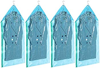 4-Pack TAILI Hanging Vacuum Storage Garment Bags